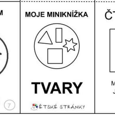 Moje miniknížka – tvary