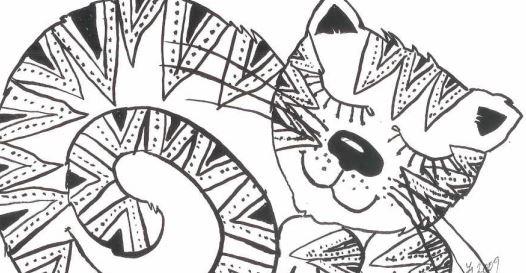Omalovánka – kočka