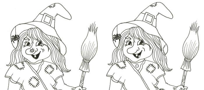 Čarodějnice – hledej rozdíly