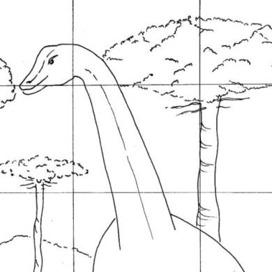 Skládačka – dinosaurus