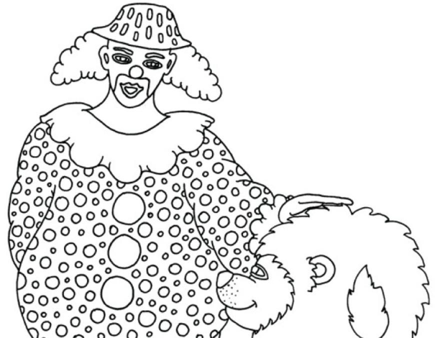 Omalovánky s klaunem – lev