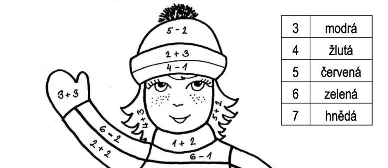 Barevné počítání – krasobruslařka