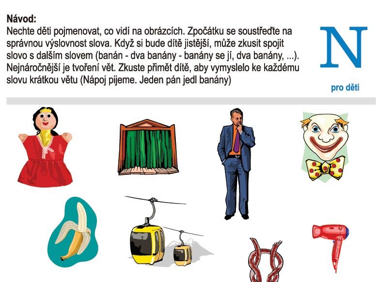 Logopedické listy – N pro děti