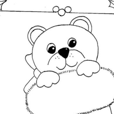 Medvídek v ponožce – omalovánka