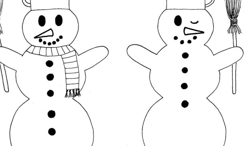 Najdete osm rozdílů mezi sněhuláky?