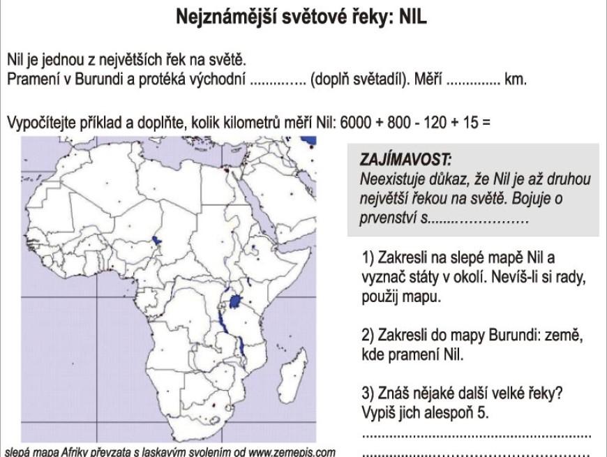 Nejznámější světové řeky: Nil