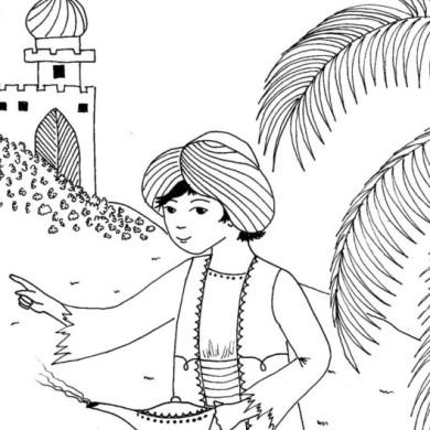 Aladin – omalovánka