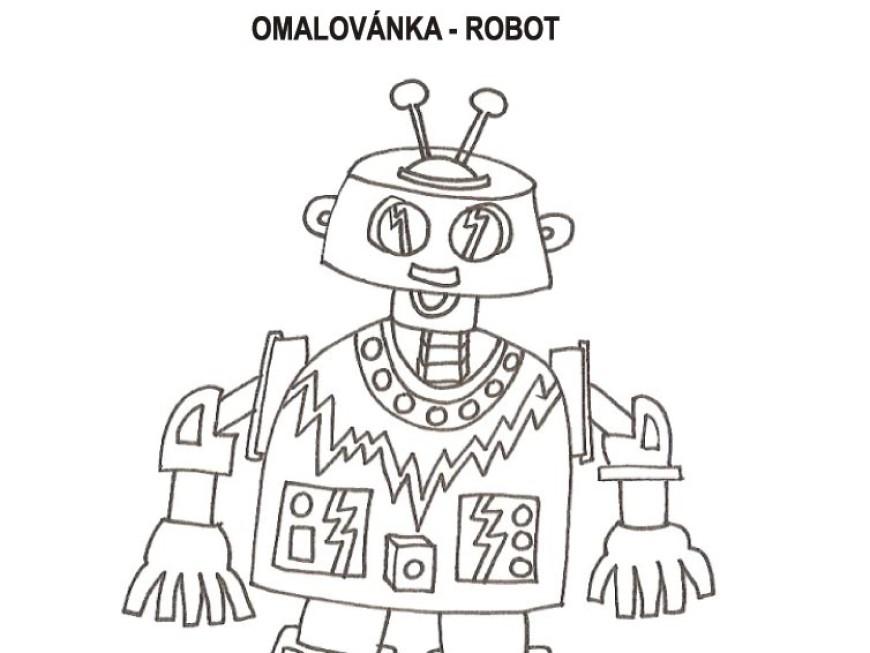 Omalovánka – robot