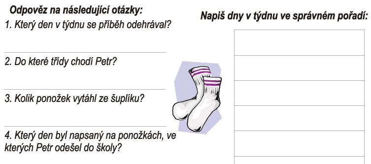 Čeština hrou: Ponožky