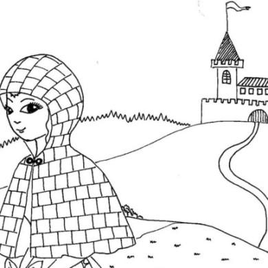 Princezna se zlatou hvězdou na čele – omalovánka