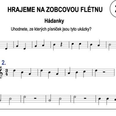 Škola hry na zobcovou flétnu zdarma – LEKCE 22.