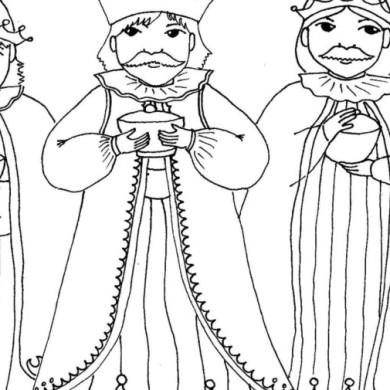 Tři králové – omalovánka
