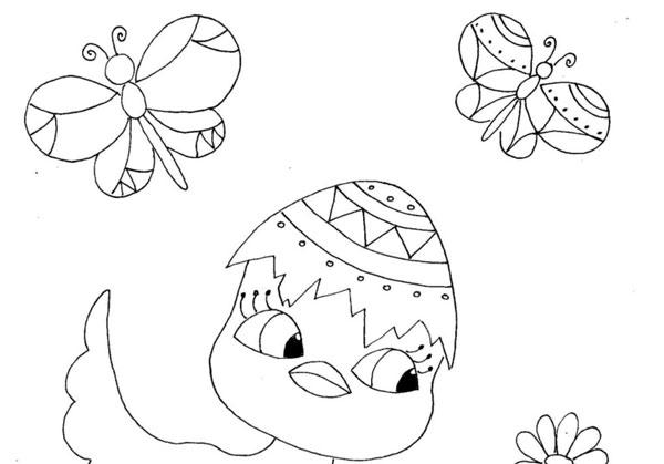 Velikonoční omalovánka