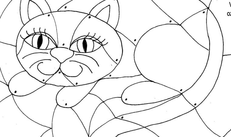 Vybarvovánka – kočička