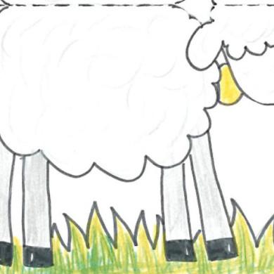 Vystřihovánka – ovečka