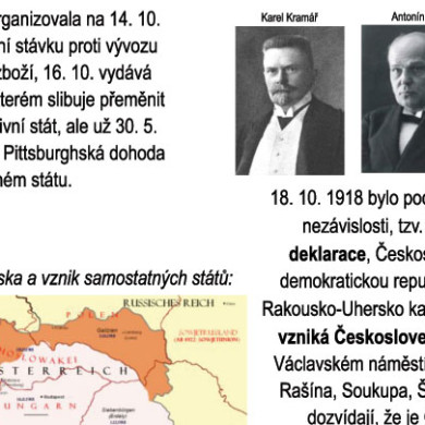 Československá republika slaví narozeniny