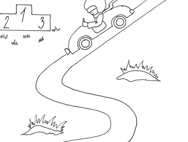 Uvolňovací cvik pro předškoláčky – závodník v autíčku