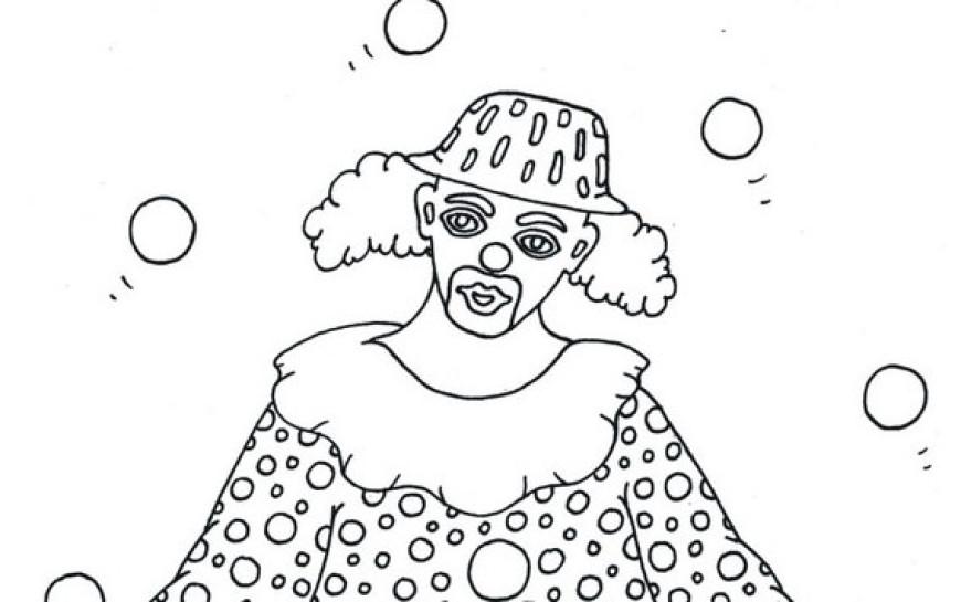 Omalovánky s klaunem – žonglování