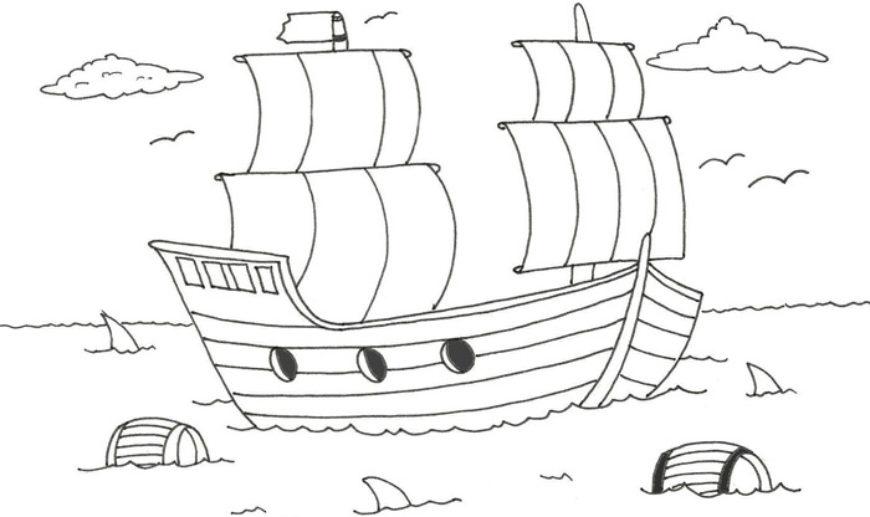 Pirátská loď – najdeš 10 rozdílů?