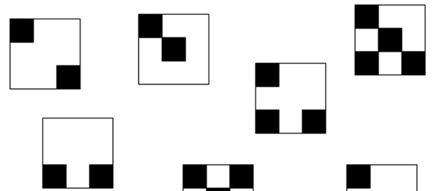 Najdi dvojice stejných čtverců