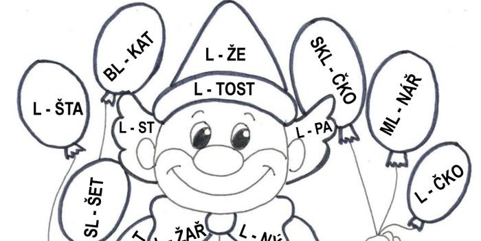 Klaun – vyjmenovaná slova po L