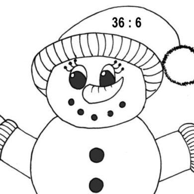 Sněhulák a šály – násobilka