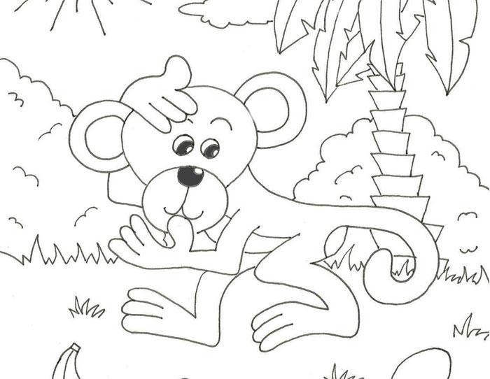Opička – najdi 10 rozdílů