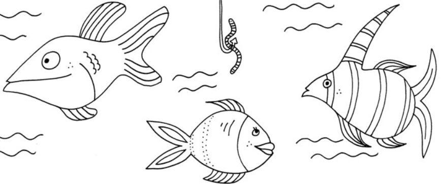 Omalovánka s říkankou: ryby – 1 + 5 pracovních listů