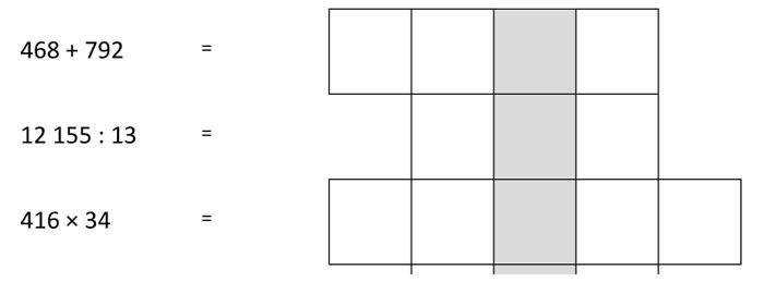 Číselná křížovka (pro páťáky)