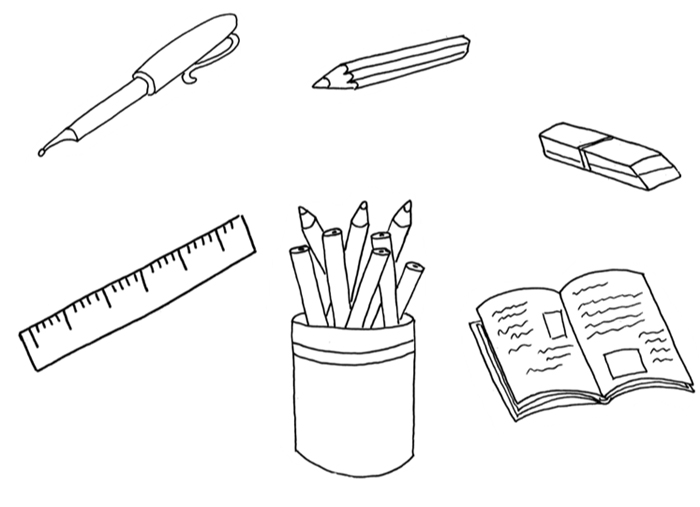 Osmisměrka – školní potřeby