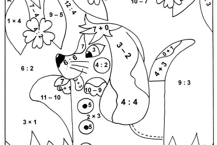 Barevné počítání – štěně