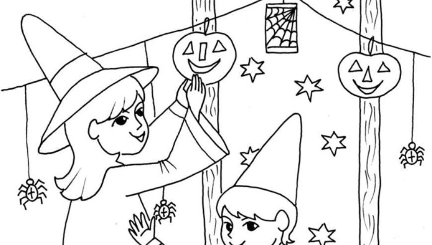 Halloweenská omalovánka pro dnešní den