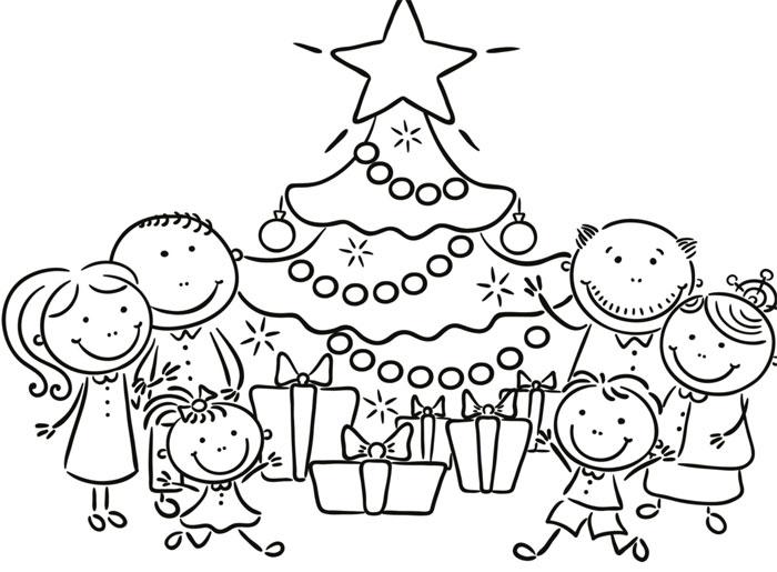 Rodina o Vánocích