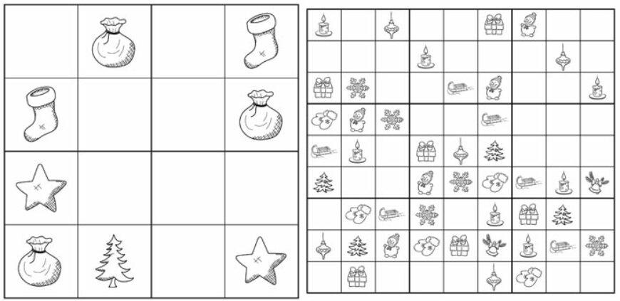 Vánoční sudoku (12 listů)