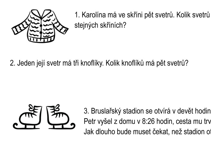 Zimní slovní úlohy